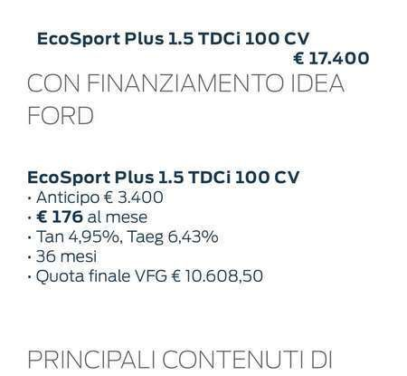 Nuova Ford Ecosport Plus a rate da 149 euro al mese - Foto 14 di 14