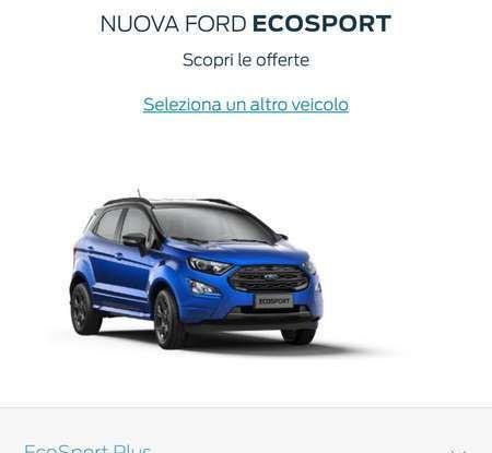 Nuova Ford Ecosport Plus a rate da 149 euro al mese - Foto 8 di 14