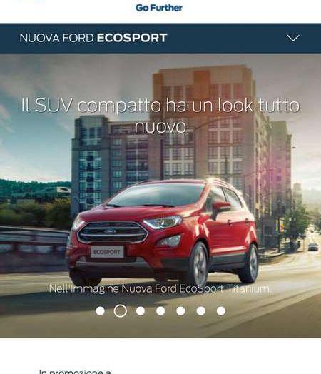 Nuova Ford Ecosport Plus a rate da 149 euro al mese - Foto 9 di 14