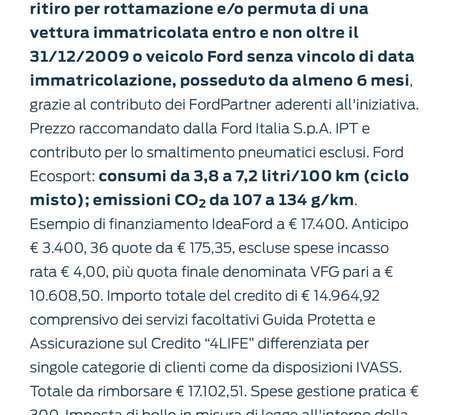 Nuova Ford Ecosport Plus a rate da 149 euro al mese - Foto 10 di 14