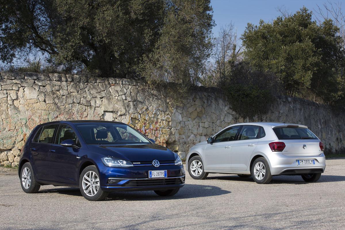 Volkswagen Golf e Polo a Metano, gamma 2018