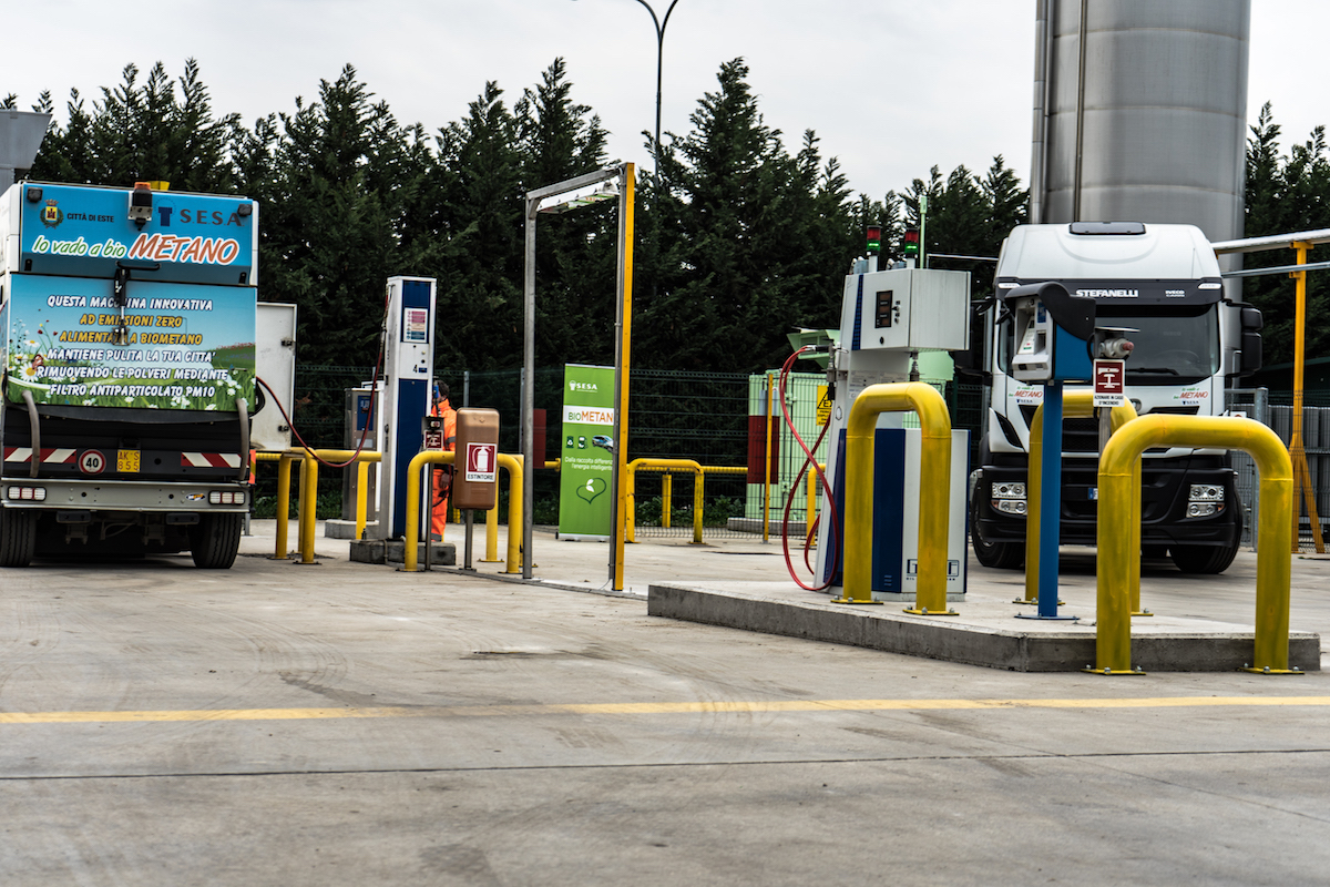 La stazione di Biometano di SESA