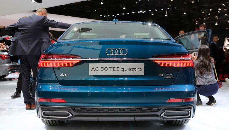 Audi A6 2018 berlina: tecnologia e stile a Quattro Anelli - Foto 5 di 13