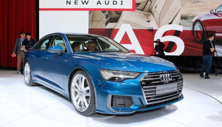 Audi A6 2018 berlina: tecnologia e stile a Quattro Anelli - Foto 1 di 13