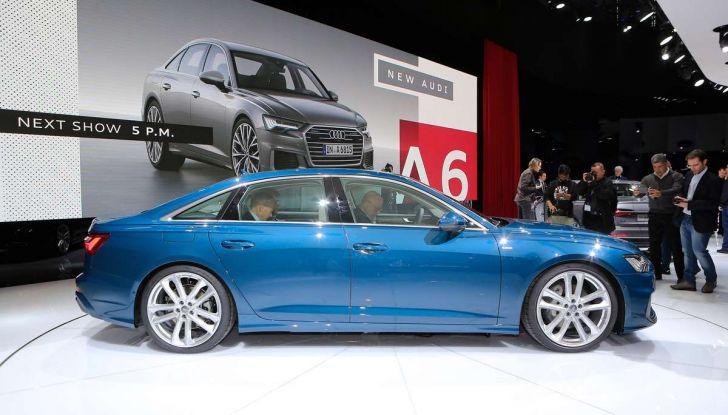 Audi A6 2018 berlina: tecnologia e stile a Quattro Anelli - Foto 6 di 13