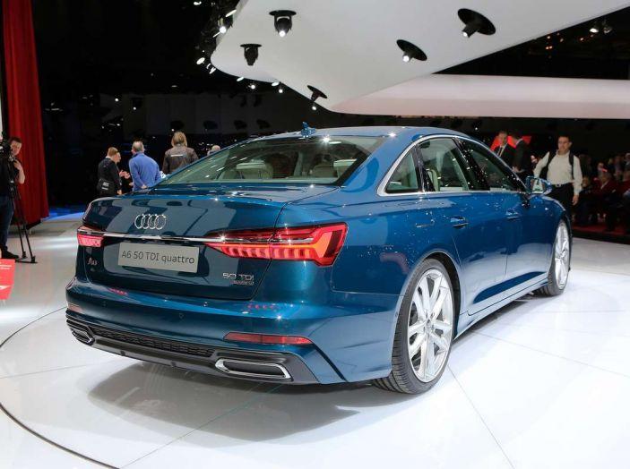 Audi A6 2018 berlina: tecnologia e stile a Quattro Anelli - Foto 3 di 13