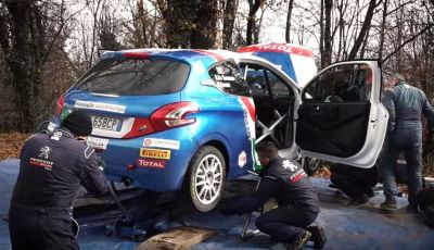 Giovani talenti del rally – il team Peugeot Sport Italia si allena in vista del Ciocco