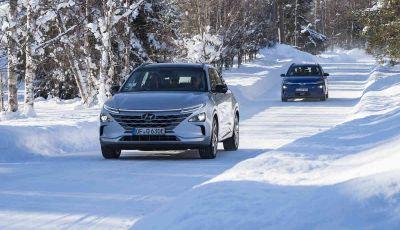 Hyundai Kona e Nexo, test estremi nel freddo della Lapponia