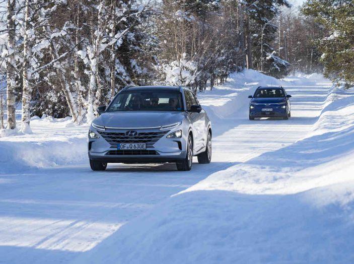 Hyundai Kona e Nexo, test estremi nel freddo della Lapponia - Foto 1 di 3