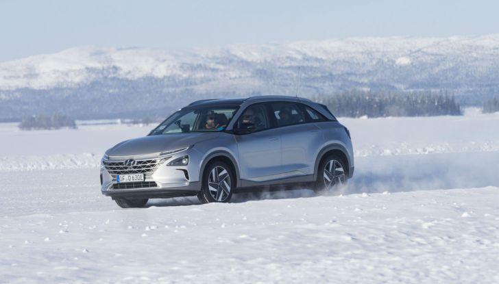 Hyundai Kona e Nexo, test estremi nel freddo della Lapponia - Foto 2 di 3