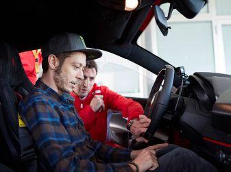 Valentino Rossi tester a Fiorano con la Ferrari 488 Pista