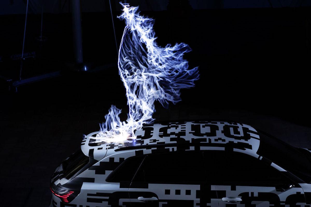 Audi e-Tron gabbia di Faraday
