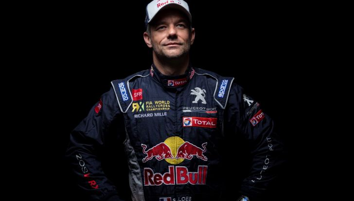 Sebastien LOEB (pilota Peugeot Total) sul campionato Rallycross 2018 - Foto  di