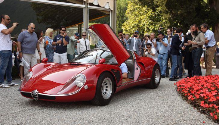 Alfa Romeo 33 Stradale premiata a Villa d'Este 2018 con la Coppa d'Oro - Foto 1 di 4