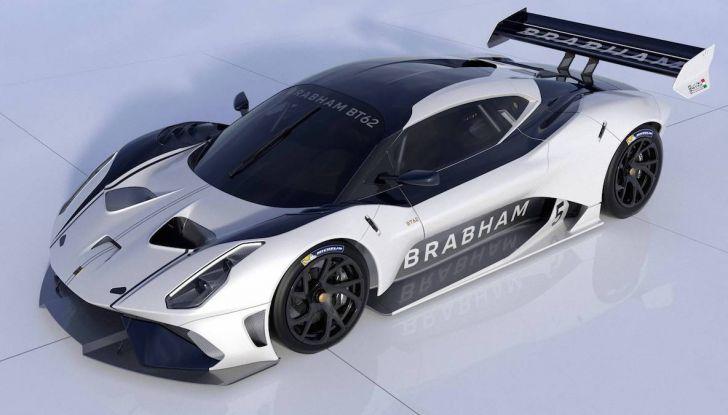 La nuova Brabham BT62 da 710CV per riportare in vita la scuderia inglese - Foto 7 di 9
