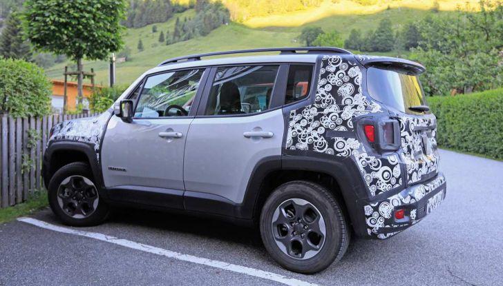 Jeep Renegade restyling 2019, nuove immagini dei test - Foto 7 di 12