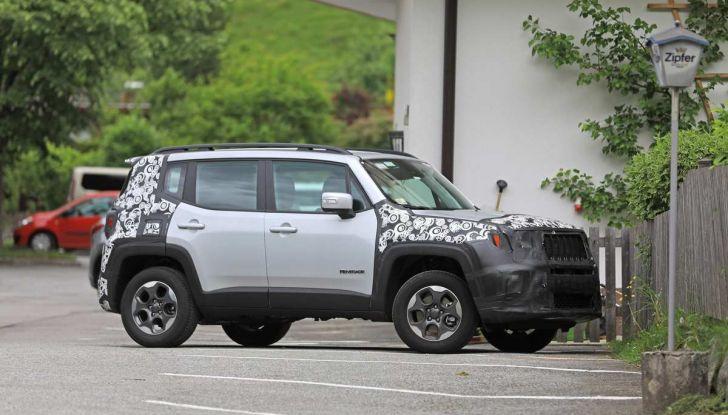 Jeep Renegade restyling 2019, nuove immagini dei test - Foto 3 di 12
