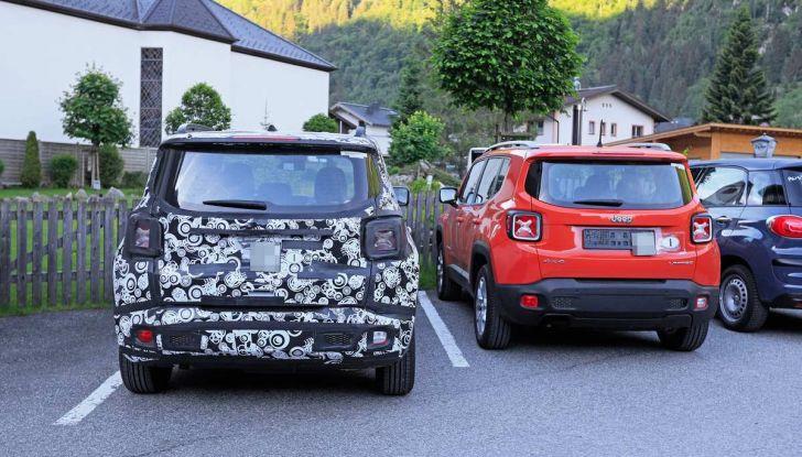 Jeep Renegade restyling 2019, nuove immagini dei test - Foto 2 di 12