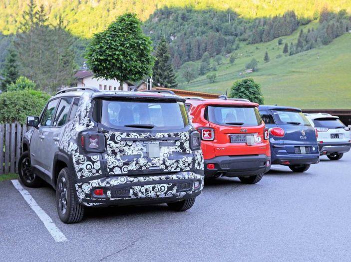 Jeep Renegade restyling 2019, nuove immagini dei test - Foto 10 di 12