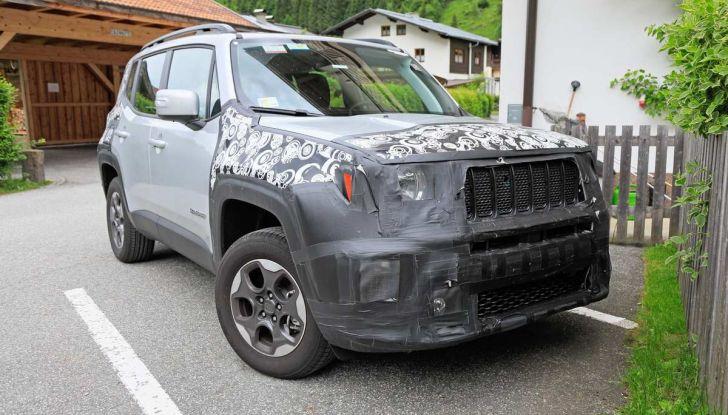 Jeep Renegade restyling 2019, nuove immagini dei test - Foto 1 di 12