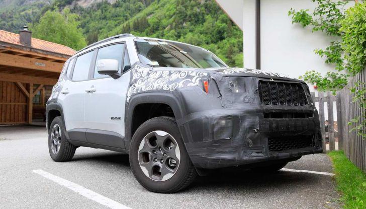 Jeep Renegade restyling 2019, nuove immagini dei test - Foto 12 di 12