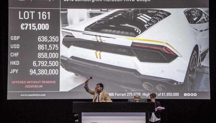 Lamborghini Huracán di Papa Francesco,  prezzo record di 715 mila euro - Foto 6 di 8