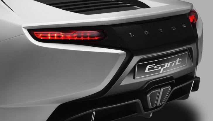 Nuova Lotus Esprit 2020, costruita nel segno di Colin Chapman - Foto 9 di 9