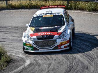 Marco Pollara (Peugeot 208 T16 ufficiale) sfortunato all'Elba 2018