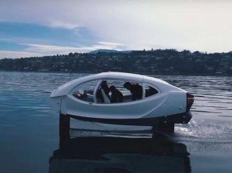 Sea Bubble, l'auto elettrica che corre sull'acqua di fiumi e laghi