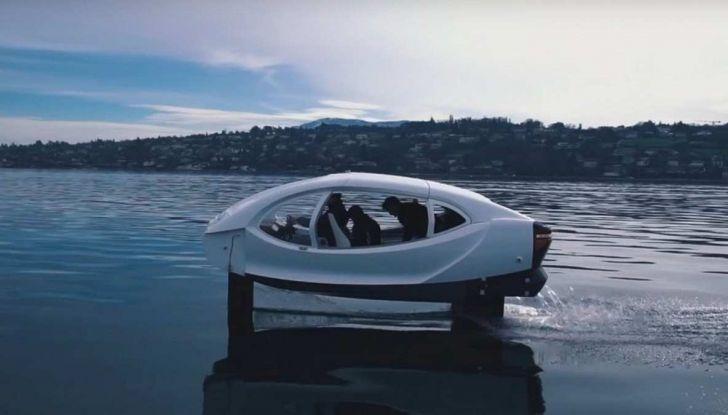 Sea Bubble, l'auto elettrica che corre sull'acqua di fiumi e laghi - Foto 1 di 9