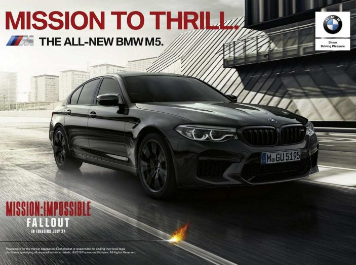 BMW M5 protagonista di Mission: Impossible – Fallout con Tom Cruise - Foto 5 di 5