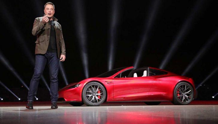 La Tesla Roadster 2 batte la Ferrari F1 2019 in una Drag Race al Sym - Foto 10 di 13