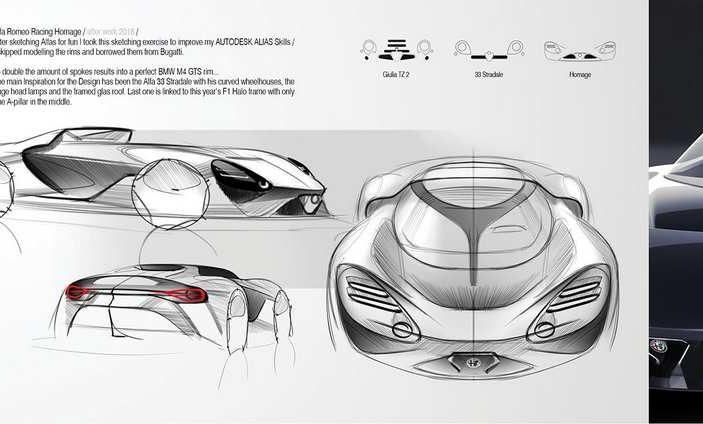 Alfa Romeo 33 Stradale del futuro, il rendering - Foto 2 di 6