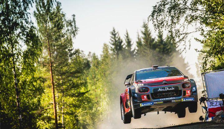 WRC Finlandia 2018: il meritato podio della Citroën C3 WRC di Ostberg. - Foto  di