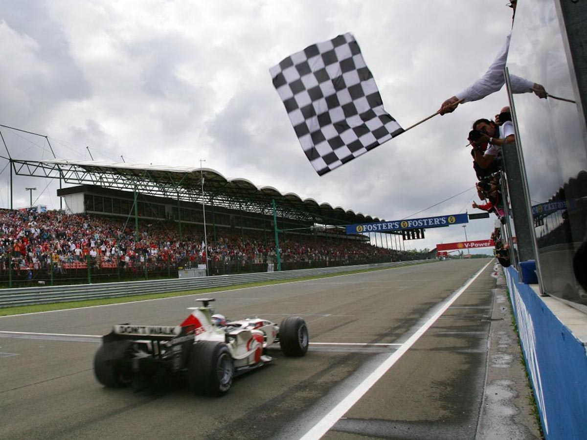 F1 Hungaroring Checkered Flag
