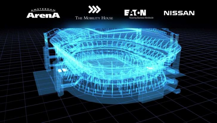 L'energia di Nissan LEAF alimenta lo stadio di Amsterdam - Foto 4 di 7