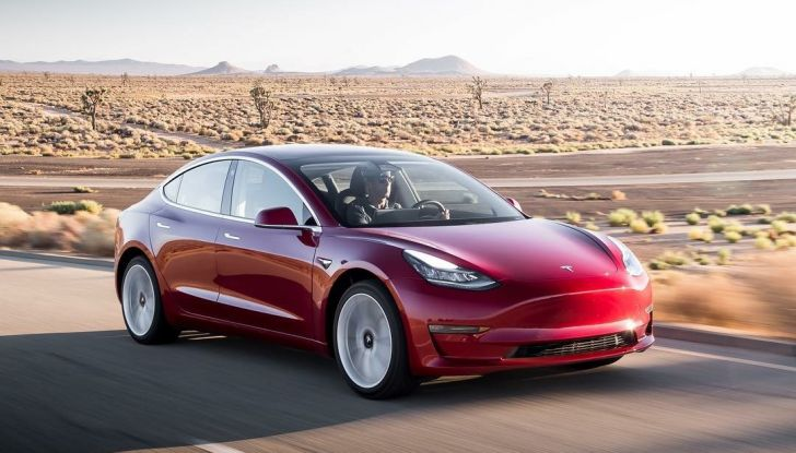 Tesla model 3 più venduta negli usa