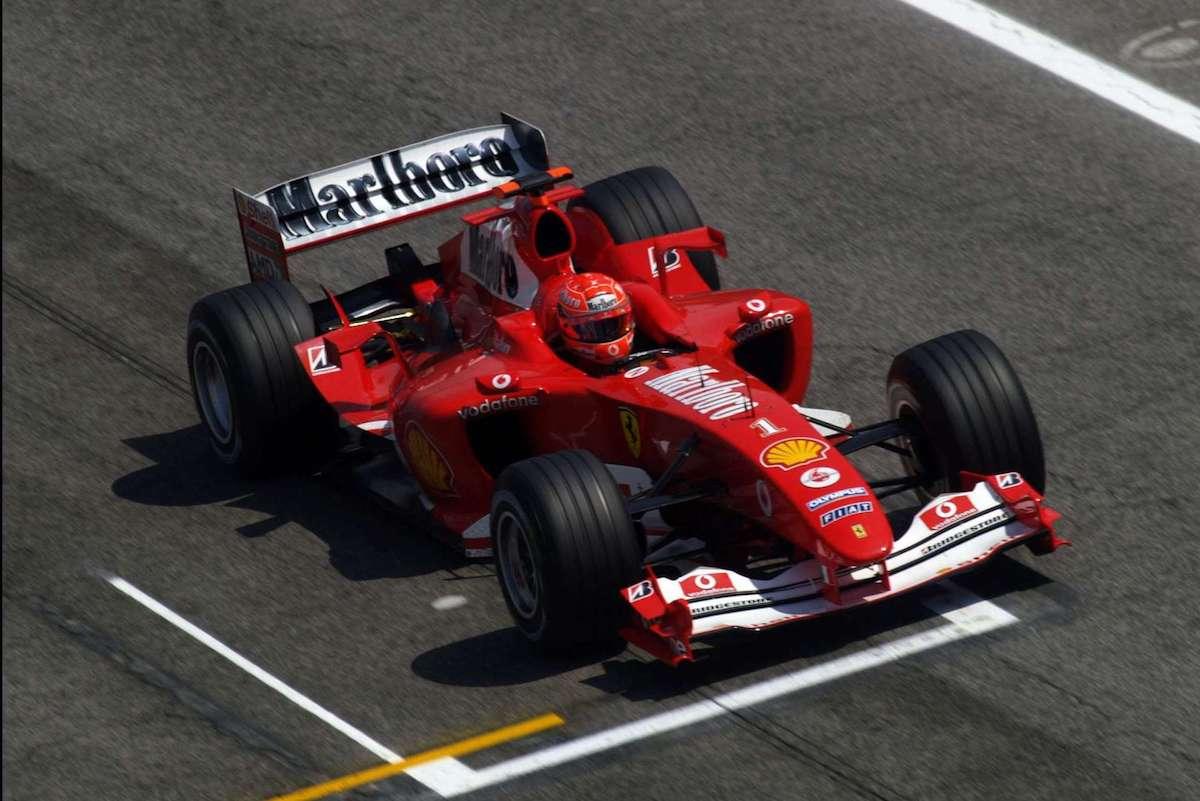 Schumacher on F2004