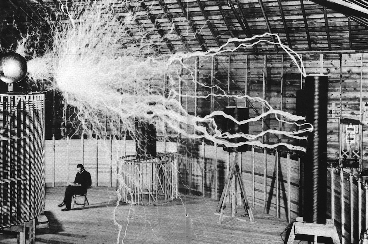 Nikola Tesla Lighting Bolts