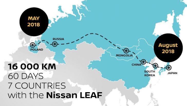 Nissan Leaf: 16.000Km in un viaggio dalla Polonia al Giappone con Marek Kaminski - Foto 5 di 6