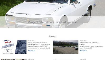 Nuovo portale WEB per i 20 anni  del Club Storico Peugeot Italia