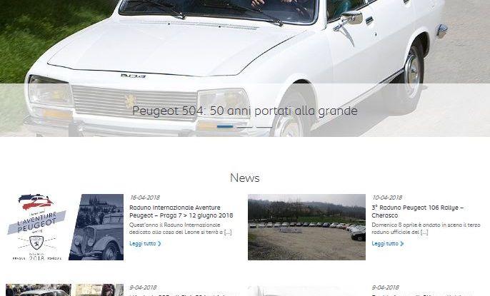 Nuovo portale WEB per i 20 anni  del Club Storico Peugeot Italia - Foto 1 di 3