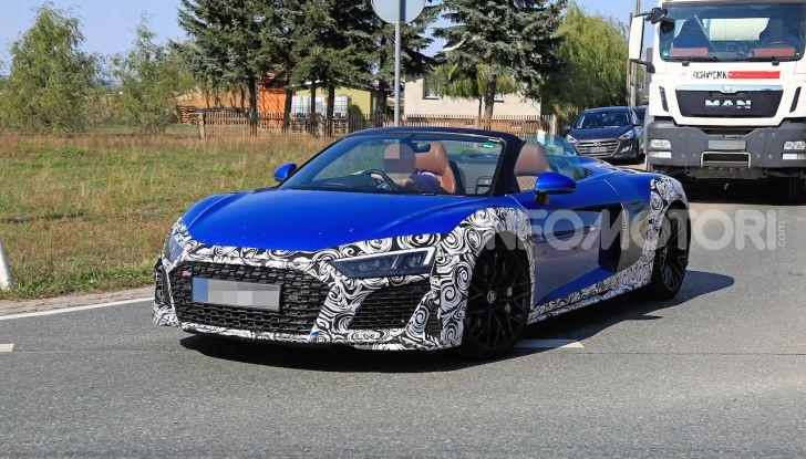 Audi R8 Spyder restyling 2019, dati tecnici e informazioni - Foto 2 di 10