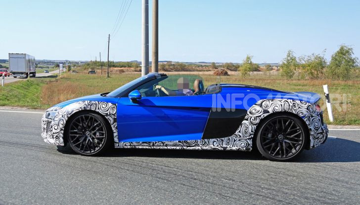 Audi R8 Spyder restyling 2019, dati tecnici e informazioni - Foto 8 di 10