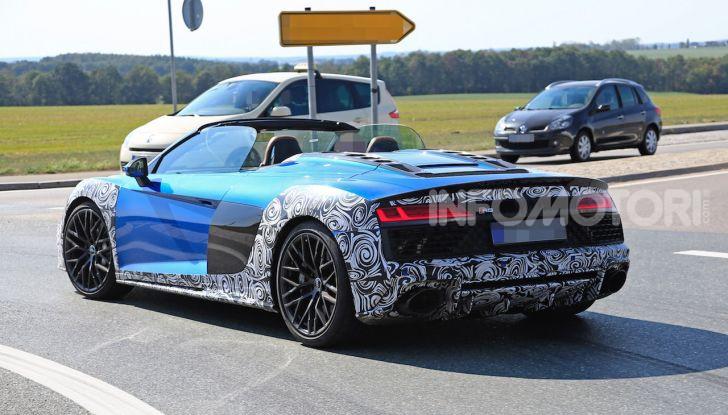 Audi R8 Spyder restyling 2019, dati tecnici e informazioni - Foto 6 di 10
