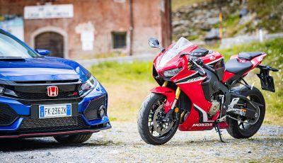 Passo dello Stelvio in 6 ruote: Honda Civic Type-R e Honda CBR 1000RR Fireblade 2018
