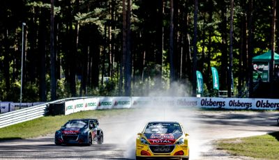 Bruno Famin (team Peugeot Total) soddisfatto del risultato di Riga