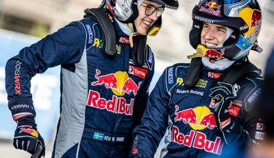 Timmy Hansen (Peugeot 208 WRX) abbastanza soddisfatto della performance a Riga