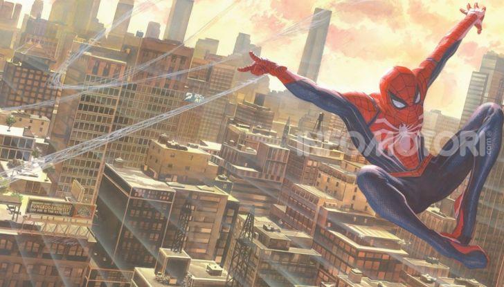 Spider-Man per PS4 a Milano: l'eroe Marvel salva un bus in Darsena - Foto 11 di 11