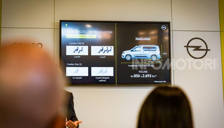 Opel Combo Life: tecnologia, sicurezza e spazio in abbondanza - Foto 20 di 37
